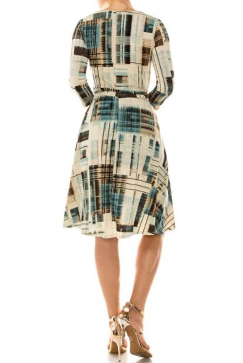 Brush stroke in square wrap dress - product images  of