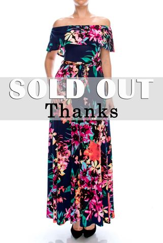 Kina,floral,in,navy,off,the,shoulder,maxi,dress,red apparel, Kina floral in navy off the shoulder maxi dress