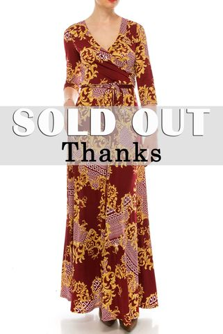 Versace,print,in,burgundy,maxi,wrap,dress,Versace print in burgundy maxi wrap dress , red apparel, redapparelonline, 6ws, Janette fashion, Janette, Maxi wrap dress, wrap dress. work dress, vacation dress, affordable dress