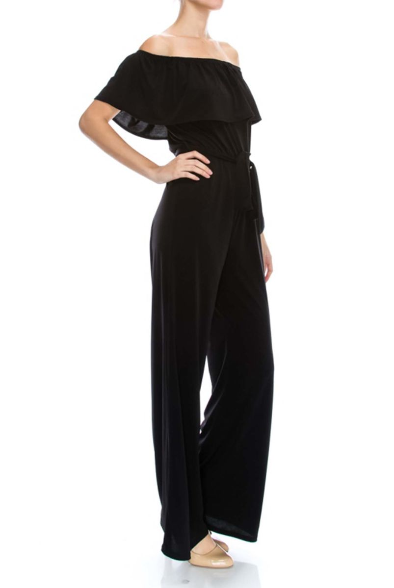 Black off the shoulder jump-suit  - product images  of