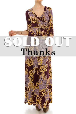 Versace,print,in,deep,wine,maxi,wrap,dress,Versace print in deep wine maxi wrap dress , red apparel, redapparelonline, 6ws, Janette fashion, Janette, Maxi wrap dress, wrap dress. work dress, vacation dress, affordable dress