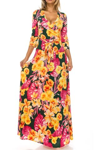 Zinnia,in,pink,maxi,wrap,dress,Zinnia in pink maxi wrap dress , redapparelonline, 6ws, Janette fashion, Janette, Maxi wrap dress, wrap dress, work dress, vacation dress, affordable wrap dress