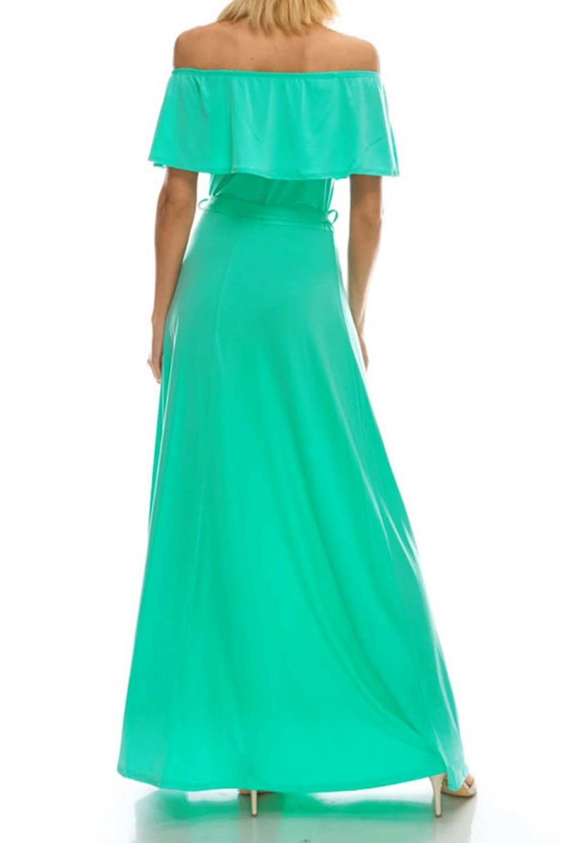 10062704f13f ... Mint off the shoulder maxi dress - product images of