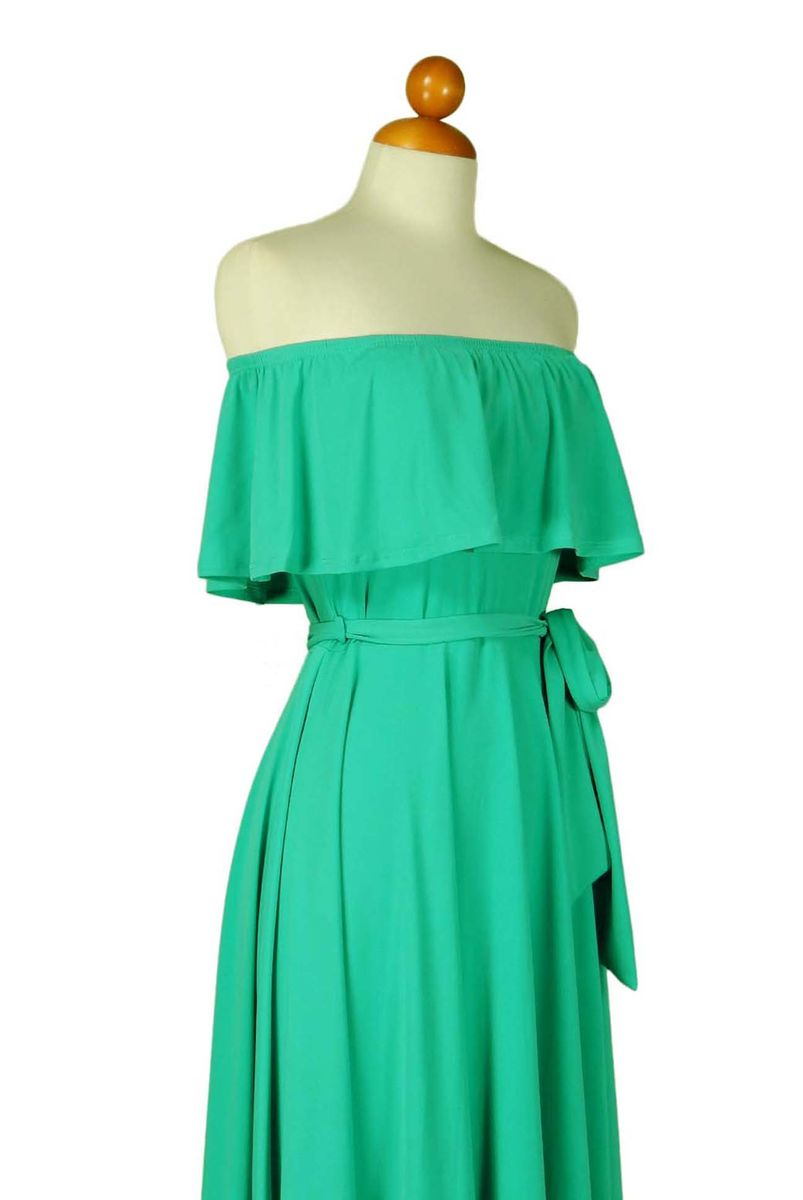 Mint off the shoulder maxi dress - product images  of
