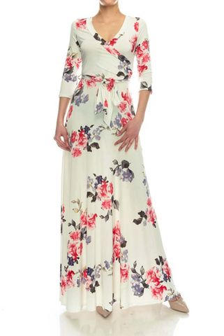 New,Spring,floral,maxi,wrap,dress,New Spring floral maxi wrap dress  , red apparel, redapparelonline, 6ws, Janette fashion, Janette, Maxi wrap dress, wrap dress. work dress, vacation dress, affordable dress