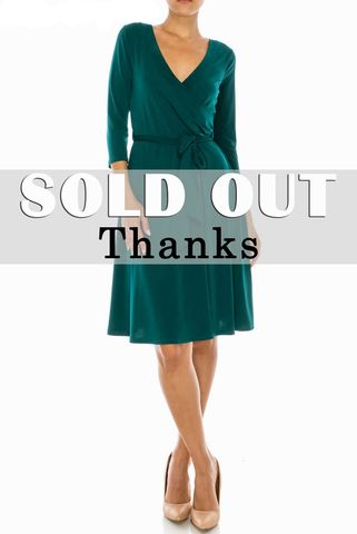 Hunter,green,wrap,dress,red apparel, Hunter green wrap dress, wrap dress