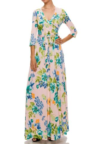Spring,around,corner,maxi,wrap,dress,Spring around corner maxi wrap dress , redapparelonline, 6ws, Janette fashion, Janette, Maxi wrap dress, wrap dress, work dress, vacation dress, affordable wrap dress