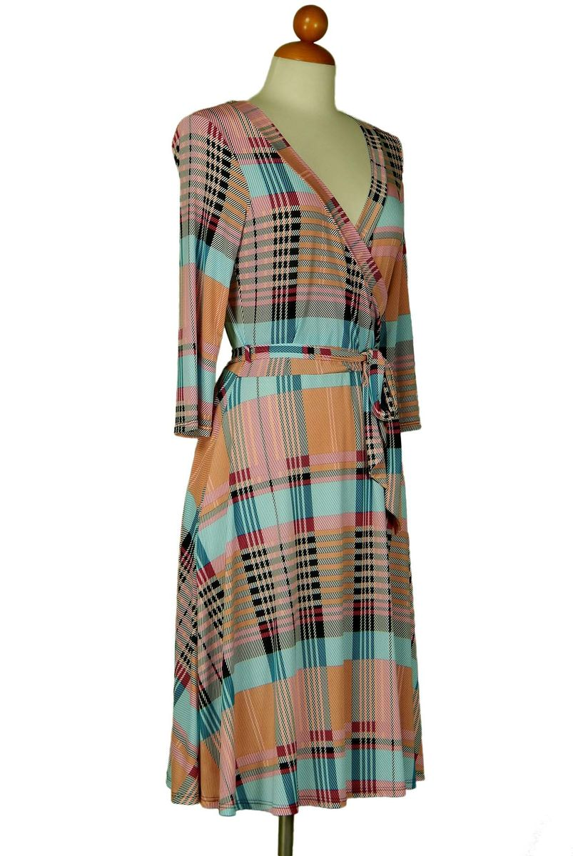 Line in sherbet wrap dress - product images  of