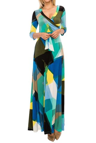 Symmetrical,in,color,2018,maxi,wrap,dress,Symmetrical in color 2018 maxi wrap dress , redapparelonline, 6ws, Janette fashion, Janette, Maxi wrap dress, wrap dress, work dress, vacation dress, affordable wrap dress