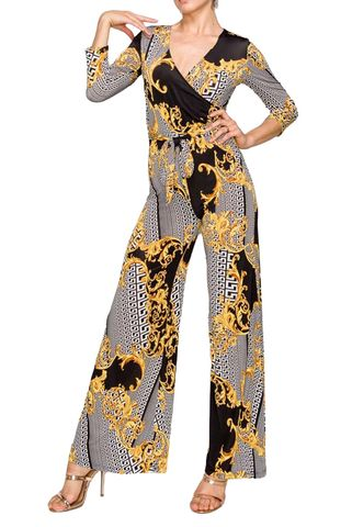 Versace,print,wrap,style,jump,suit,Versace print wrap style jump suit , red apparel, janette fashion, Janette fashion jumpsuit, Janette jumpsuitjamper