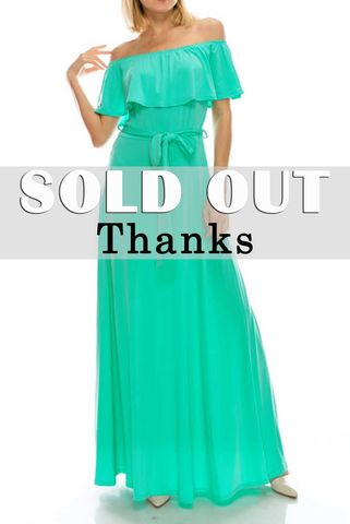Mint,off,the,shoulder,maxi,dress,red apparel, Janette fashion, Mint off the shoulder maxi dress