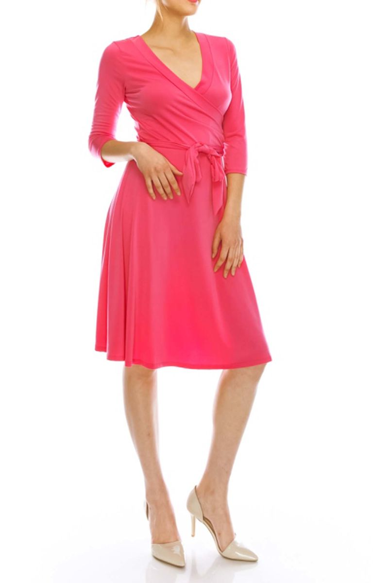 Pink wrap dress - product images  of