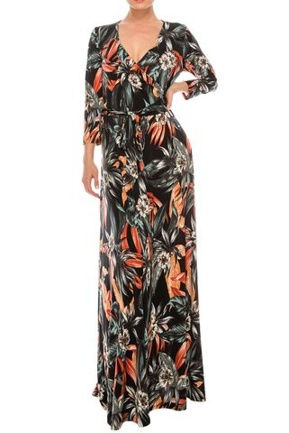 Sweet,paradise,maxi,wrap,dress,red apparel, Janette fashion, Sweet paradise maxi wrap dress