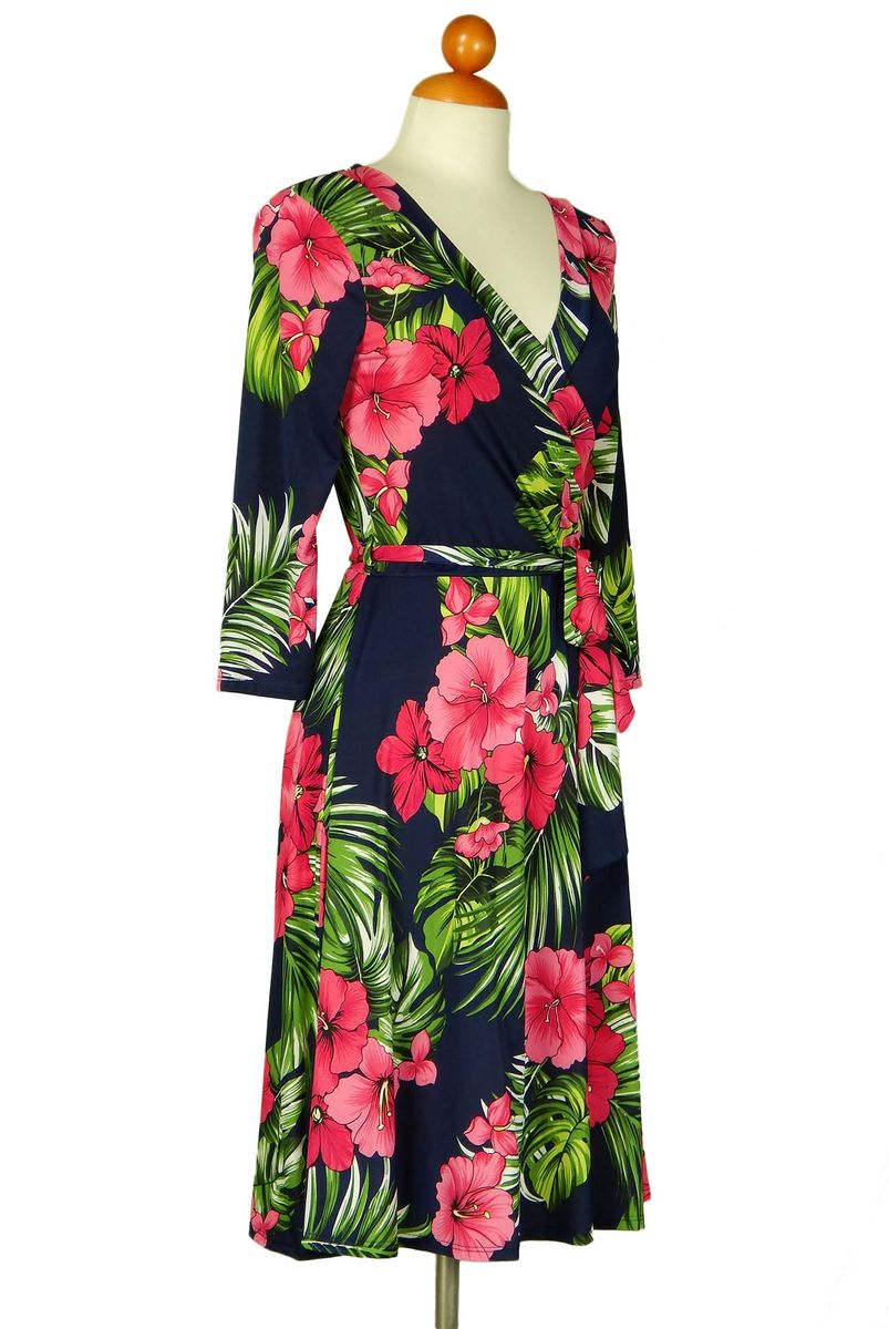 Maui floral wrap dress - product images  of