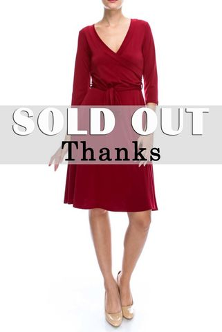 Deep,burgundy,wrap,dress,red apparel, Deep burgundy wrap dress, wrap dress
