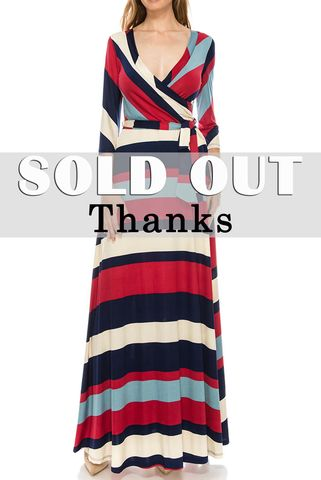 Large,stripe,red,navy,maxi,wrap,dress,Large stripe red navy maxi wrap dress , redapparelonline, 6ws, Janette fashion, Janette, Maxi wrap dress, wrap dress, work dress, vacation dress, affordable wrap dress