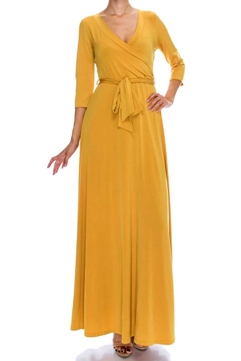 Mustard seed maxi wrap dress - product images  of
