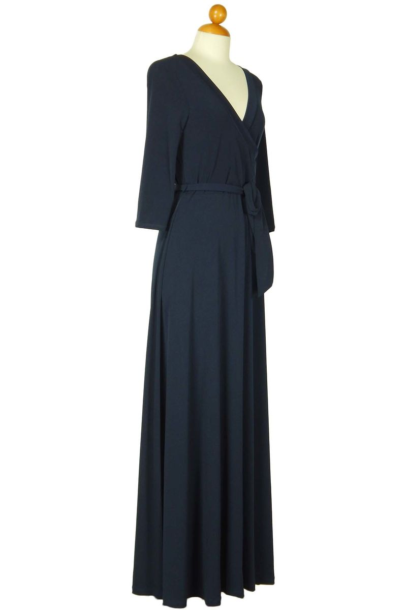 Deep navy maxi wrap dress - product images  of