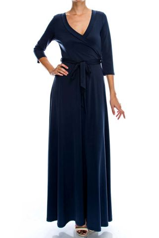 Deep,navy,maxi,wrap,dress,Deep navy maxi wrap dress, red-apparel, redapparelonline, 6ws, Janette-fashion, Janette,  wrap-dress, maxi-dress, work-dress, vacation-dress, affordable-dress, dress