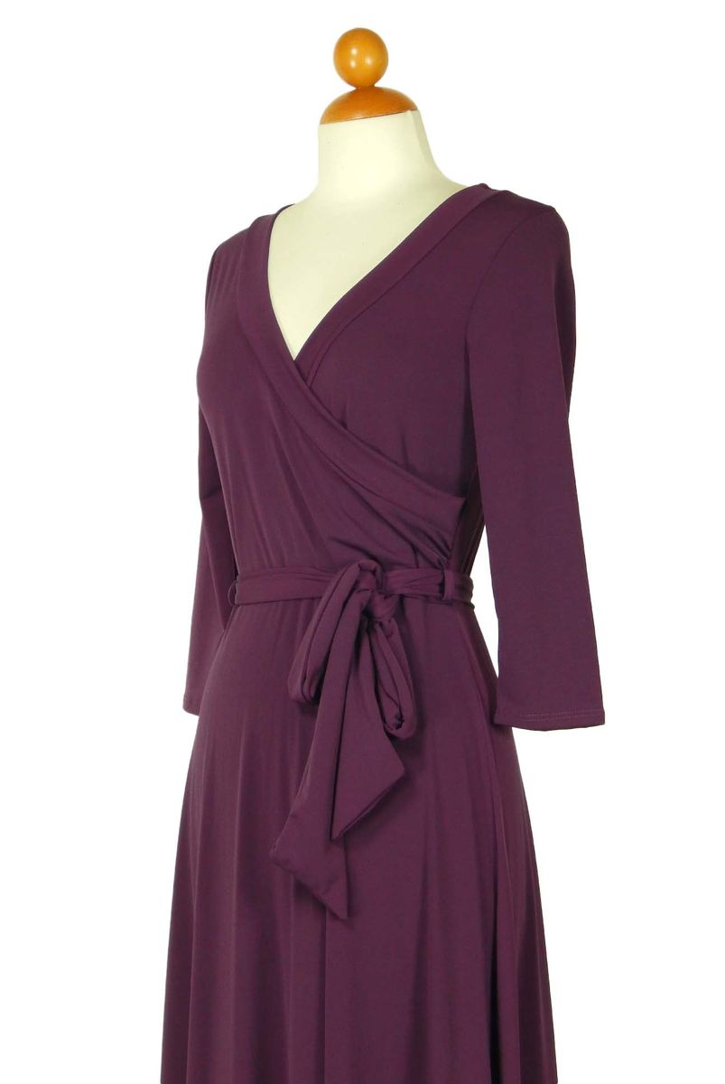 Plum maxi wrap dress - product images  of