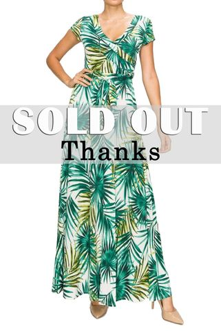 Palm,leaves,in,green,cap,sleep,maxi,wrap,dress,Palm leaves in green cap sleep maxi wrap dress, redapparelonline, 6ws, Janette fashion, Janette, Maxi wrap dress, wrap dress, work dress, vacation dress, affordable wrap dress