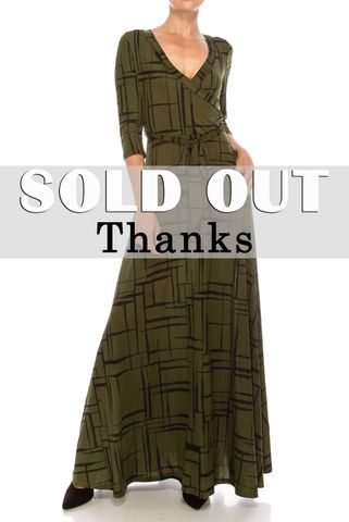 Checker,and,dice,in,olive,maxi,wrap,dress,Checker and dice in olive maxi wrap dress   , red apparel, redapparelonline, 6ws, Janette fashion, Janette, Maxi wrap dress, wrap dress. work dress, vacation dress, affordable dress
