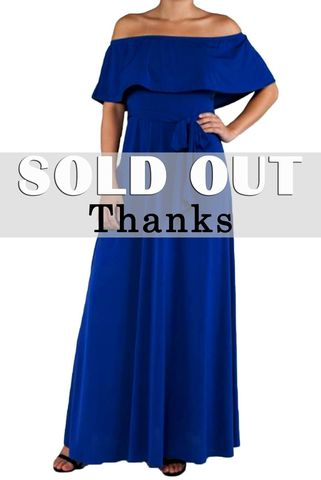 Royal,blue,off,the,shoulder,maxi,dress,red apparel, Janette fashion, Royal blue off the shoulder maxi dress