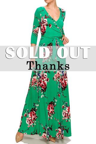 Turquoise,floral,in,Sumatra,maxi,wrap,dress,Turquoise floral in Sumatra maxi wrap dress , redapparelonline, 6ws, Janette fashion, Janette, Maxi wrap dress, wrap dress, work dress, vacation dress, affordable wrap dress