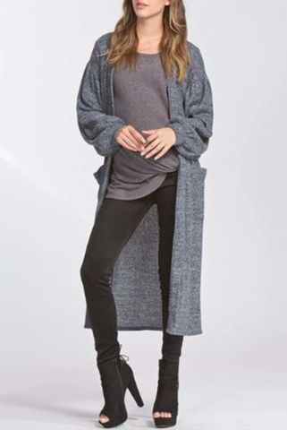 Loose,fit,long,cardigan,(Dark,Gray),Cardigan