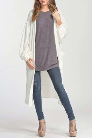 Loose,fit,long,cardigan,(Off,White),Cardigan