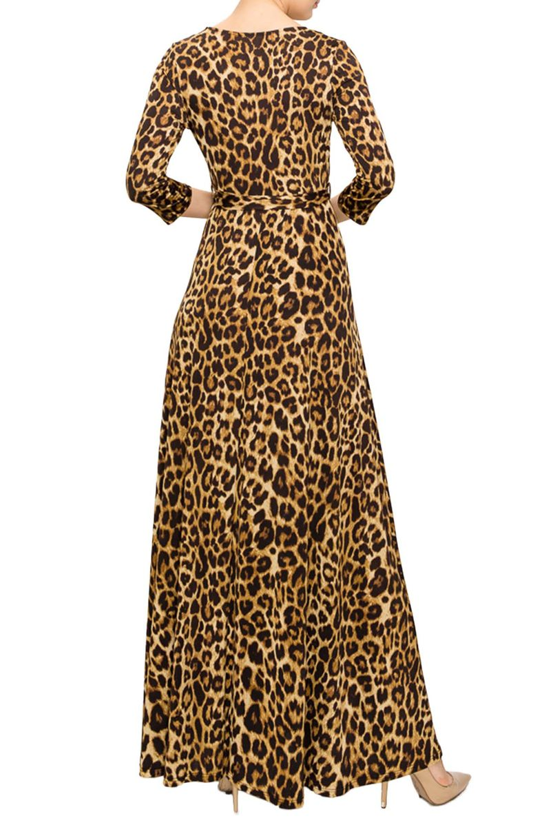 New leopard maxi wrap dress - product images  of