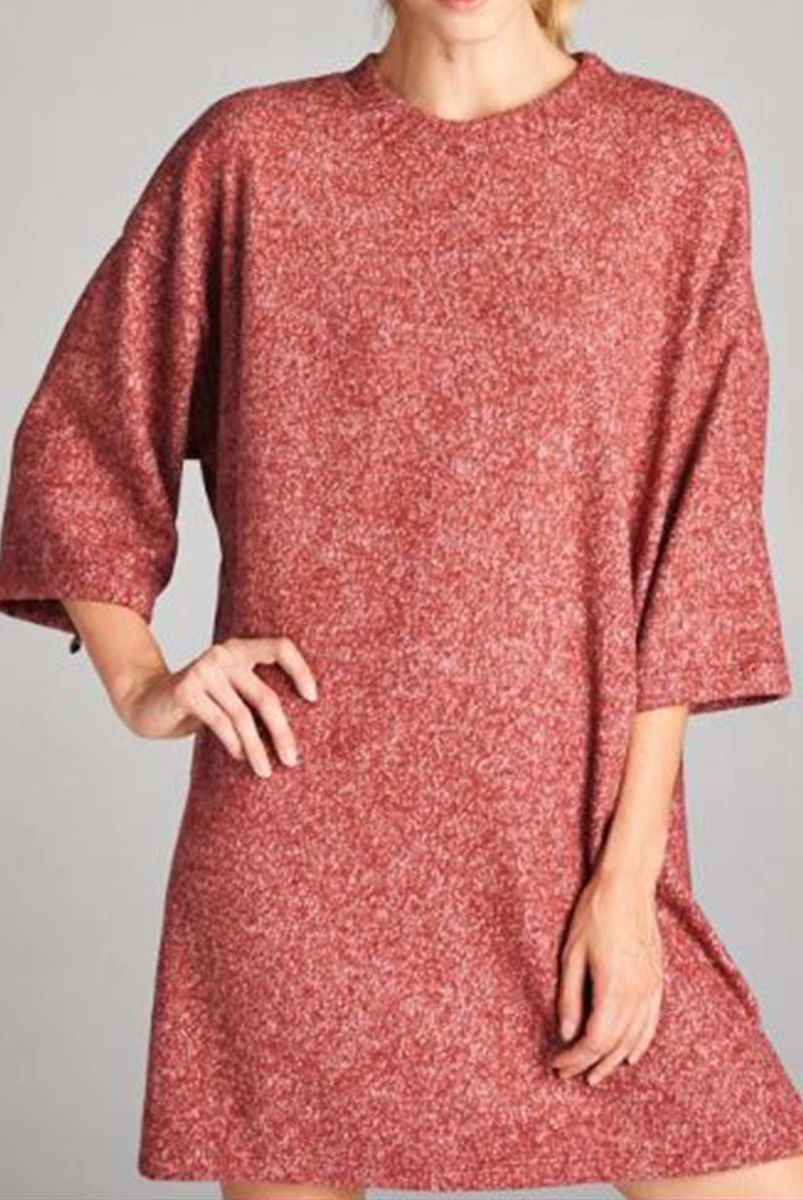 Oversized wide three quarter length sleeve dress - product images  of