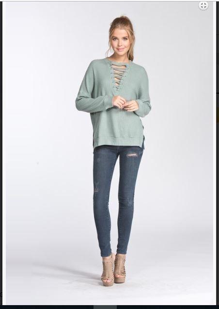 Loose fit long sleeve top - product images  of