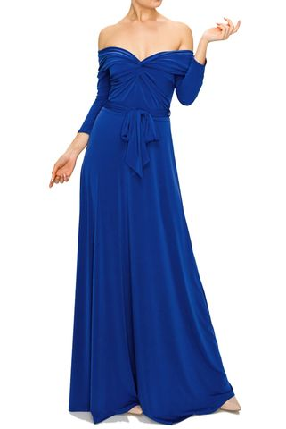 New,solid,off,shoulder,maxi,dress,in,royal,red apparel, Janette fashion, New solid off shoulder maxi dress in royal