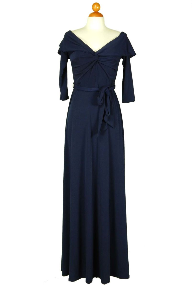 d72095e8b5a6 ... New solid off shoulder maxi dress in navy - product images of ...