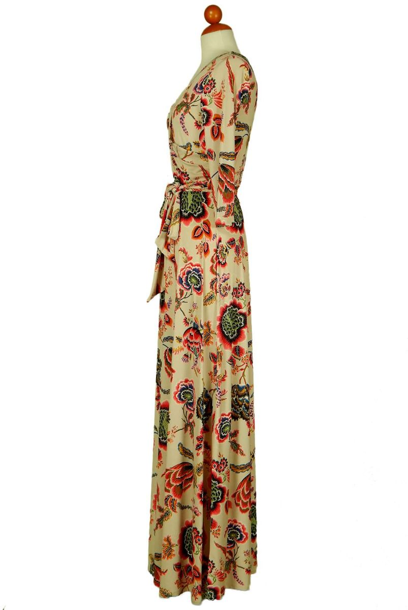 Retro floral maxi wrap dress - product images  of