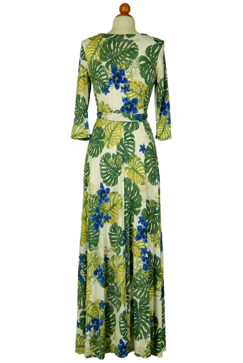 Tropical island maxi wrap dress  - product images  of