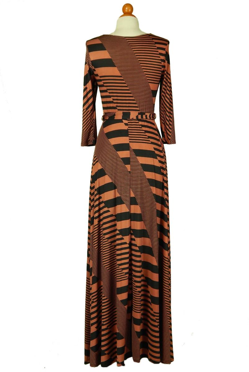 Inception in brick maxi wrap dress - product images  of