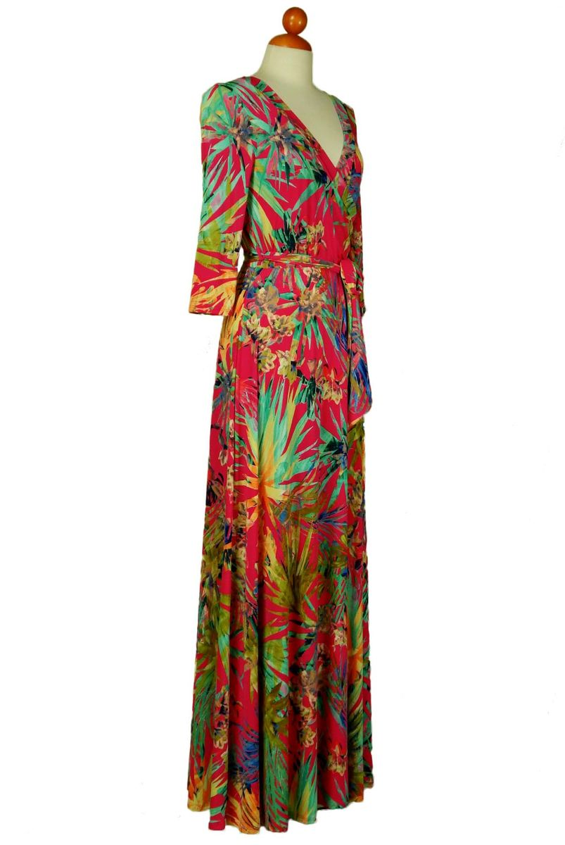 Amore pink maxi wrap dress  - product images  of