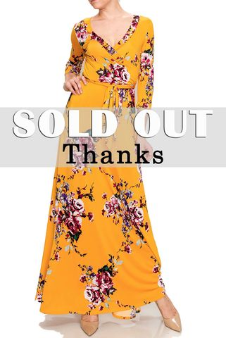 Mustard,floral,in,Sumatra,maxi,wrap,dress,Mustard floral in Sumatra maxi wrap dress , redapparelonline, 6ws, Janette fashion, Janette, Maxi wrap dress, wrap dress, work dress, vacation dress, affordable wrap dress
