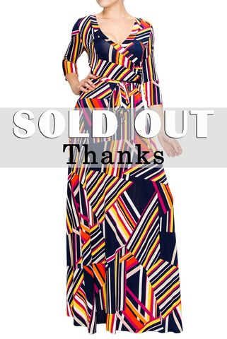 Bright,lines,maxi,wrap,dress,Bright lines maxi wrap dress, redapparelonline, 6ws, Janette fashion, Janette, Maxi wrap dress, wrap dress, work dress, vacation dress, affordable wrap dress