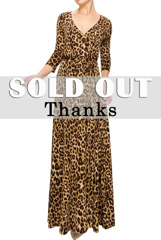 New,leopard,maxi,wrap,dress,red apparel, Janette fashion, Janette, New leopard maxi wrap dress