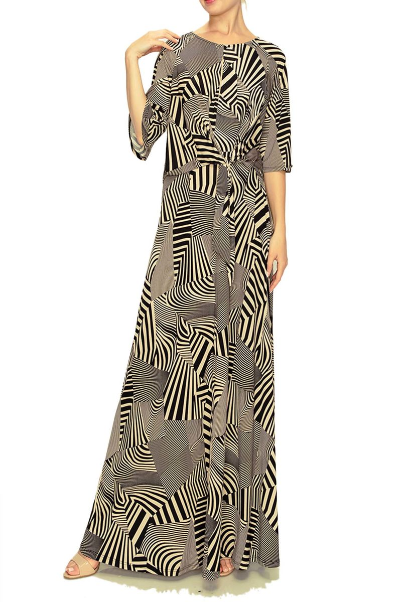 Matrox knotted on waist maxi dress - product images  of