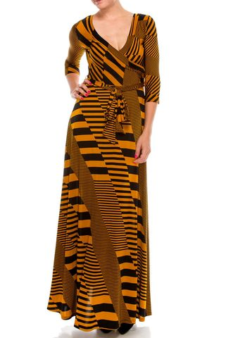 Inception,in,mustard,maxi,wrap,dress,red apparel, Janette fashion, Janette, Inception in mustard maxi wrap dress