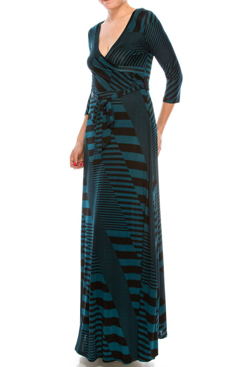 Inception in deep jade maxi wrap dress - product images  of