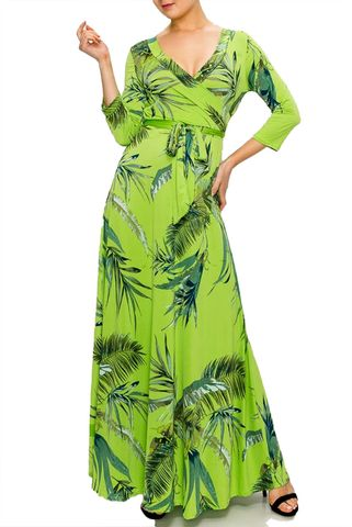 Palm,in,Lime,Green,maxi,wrap,dress,Palm in Lime Green maxi wrap dress  , red apparel, redapparelonline, 6ws, Janette fashion, Janette, Maxi wrap dress, wrap dress. work dress, vacation dress, affordable dress