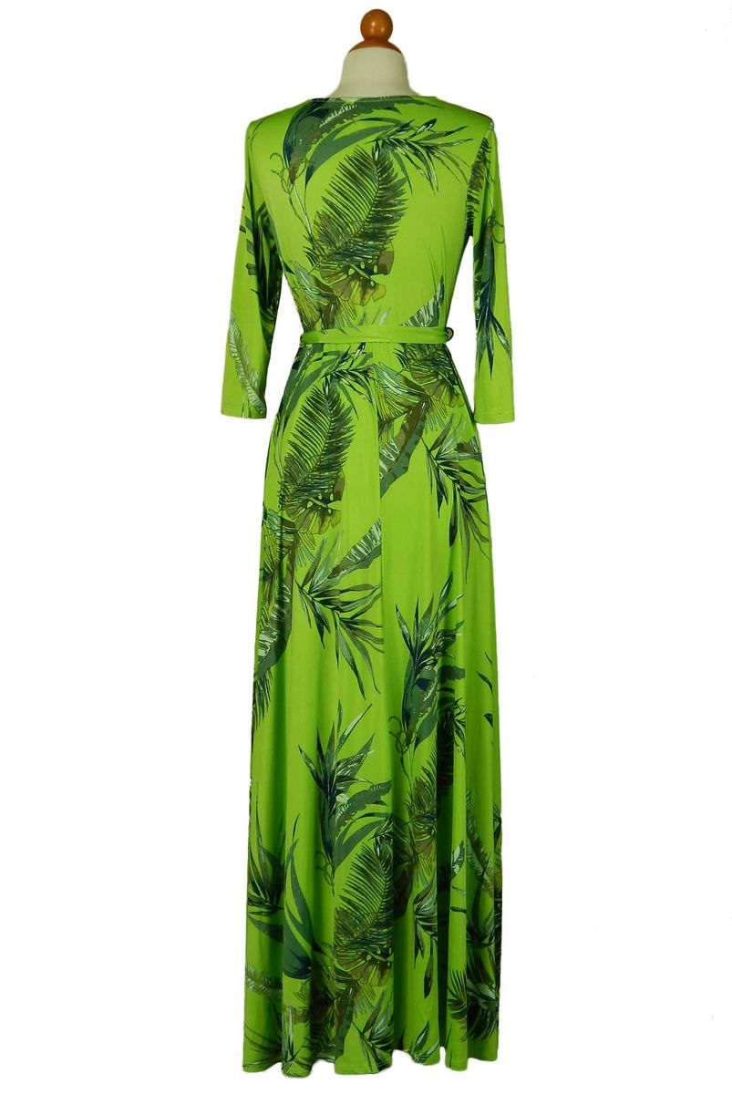 Palm in Lime Green maxi wrap dress  - product images  of