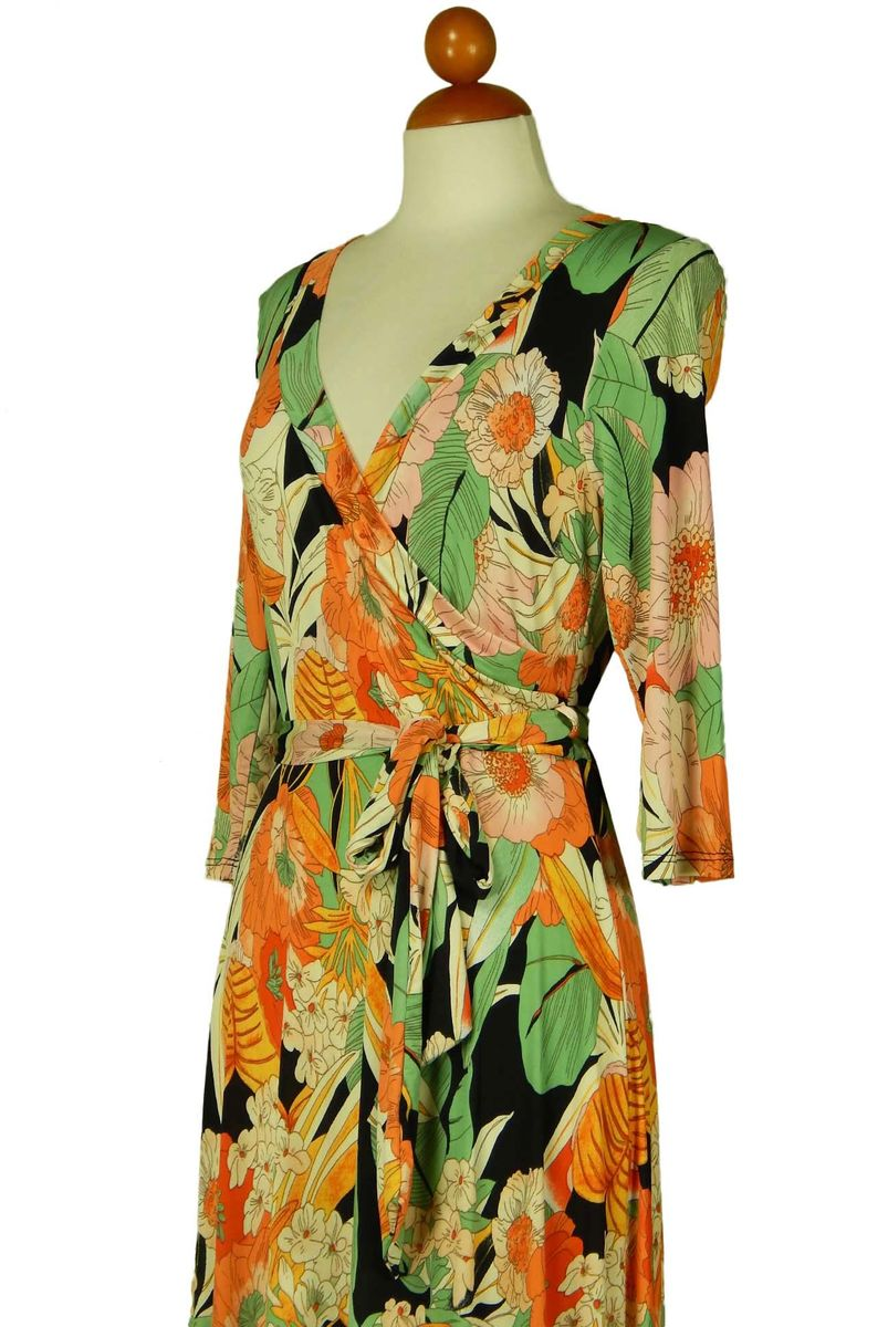 Flower garden in spring maxi wrap dress - product images  of