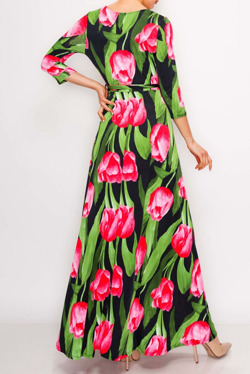 Tulip garden maxi wrap dress  - product images  of
