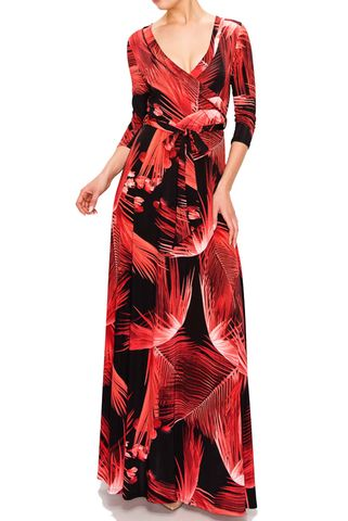 flame,in,red,maxi,wrap,dress,flame in red maxi wrap dress  , red apparel, redapparelonline, 6ws, Janette fashion, Janette, Maxi wrap dress, wrap dress. work dress, vacation dress, affordable dress